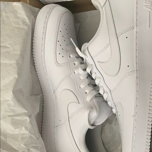 Lightly worn, size 14, white Air Force ones